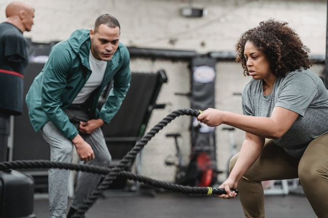 Working with a personal trainer